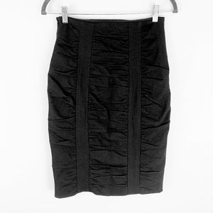 NWT Nanette Lepore Soiree Ruched Pencil Skirt